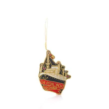 Royal Yacht Britannia In Profile Hanging Decoration