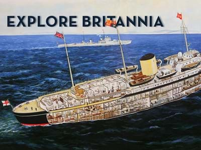 Royal Yacht Britannia Boat Drawing Guide illustration