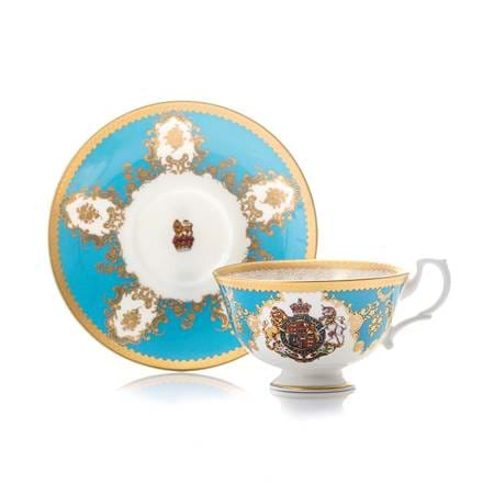 Coat of Arms Tea Cup & Saucer