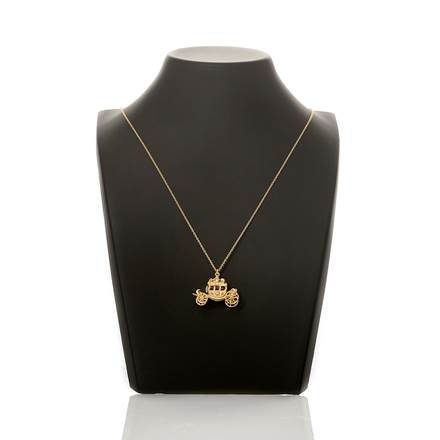 Alex Monroe Gold Carriage Pendant