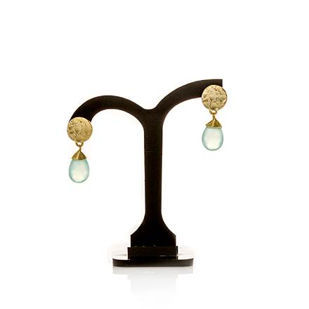 Azuni Gold Plated Disc Earring