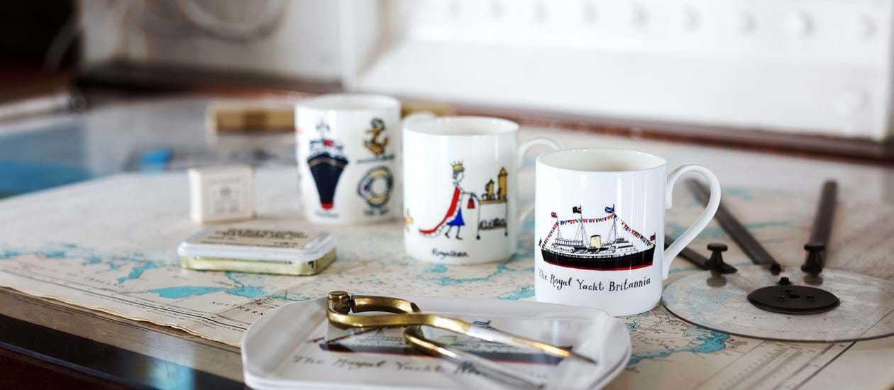 homeware mug compass royal yacht britannia merchandise