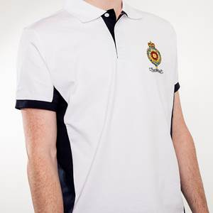 Britannia White & Navy Polo Shirt