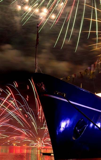 Exclusive Use - Royal Yacht Britannia - Fireworks