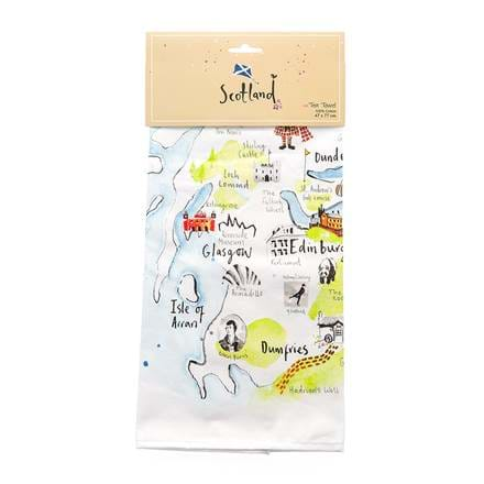Scotland Map Tea Towel