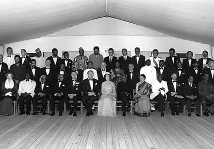 Commonwealth Heads Of Government taken on Britannia's Verandah Deck