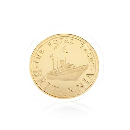 Britannia 22ct Gold-Plated Brass Coin