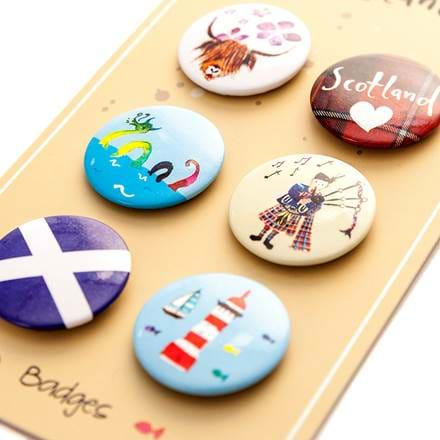 Scotland Badges Set of 6