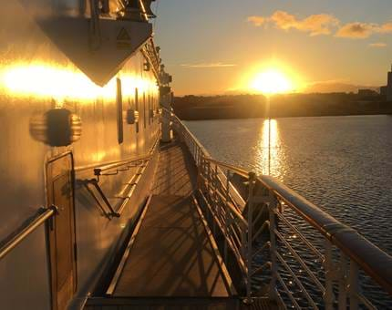 A stunning sunset captured from the decks of Britannia this week.