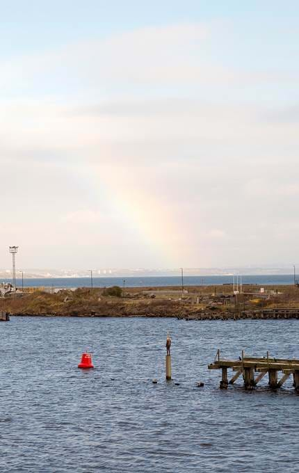 A beautiful rainbow was captured from the decks of Britannia this week, looking out to the Firth of Forth.
