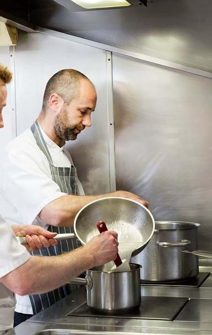 chefs in kitchen royal yacht britannia