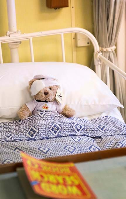 yottie bear in sick bay royal yacht britannia
