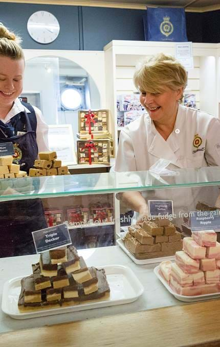 staff selling bakeries royal yacht britannia