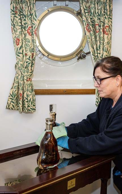 staff cleaning item royal yacht britannia