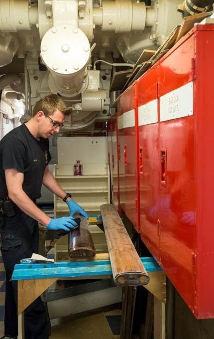 wood maintenance royal yacht britannia