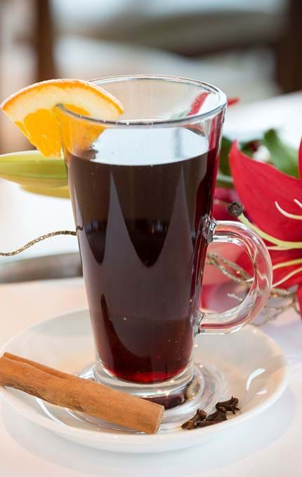 served mulled wine glass royal yacht britannia