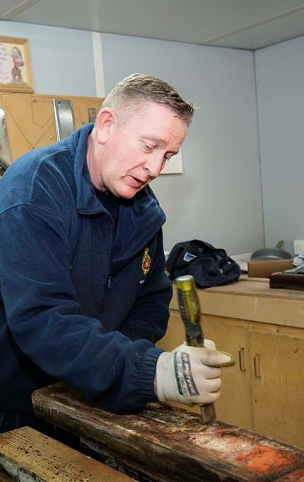 wood work maintenance royal yacht britannia