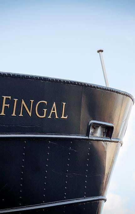 fingal bow royal yacht britannia