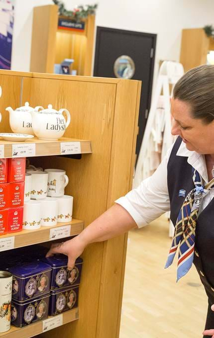 staff in gift shop royal yacht britannia