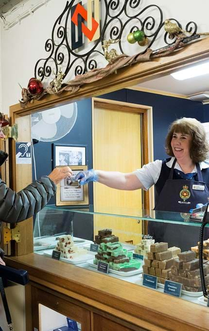 customer buying bakeries royal yacht britannia