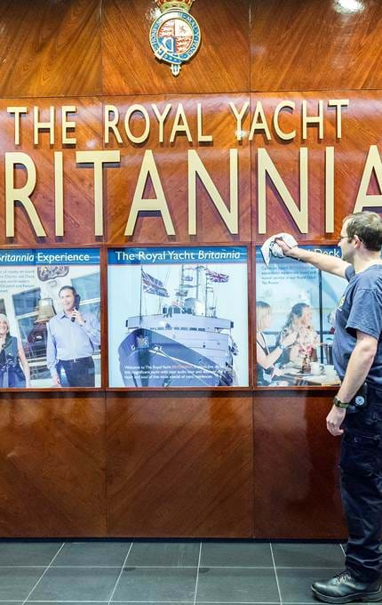 royal yacht britannia main brand on ship