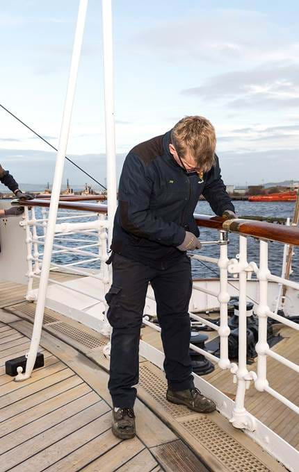 deck maintenance royal yacht britannia