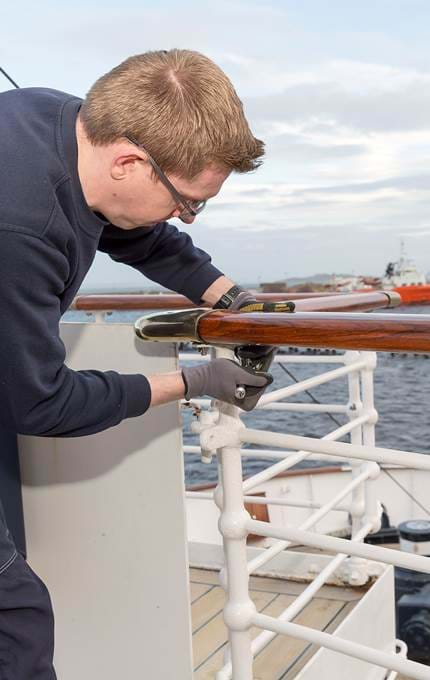 handrail fitting royal yacht britannia