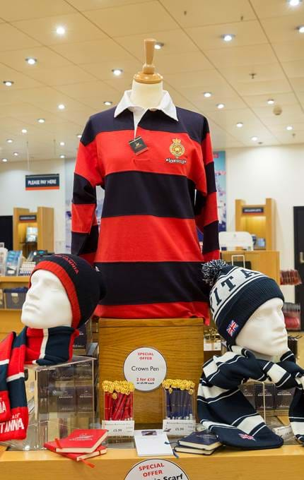 Rugby top, scarf and hat set.