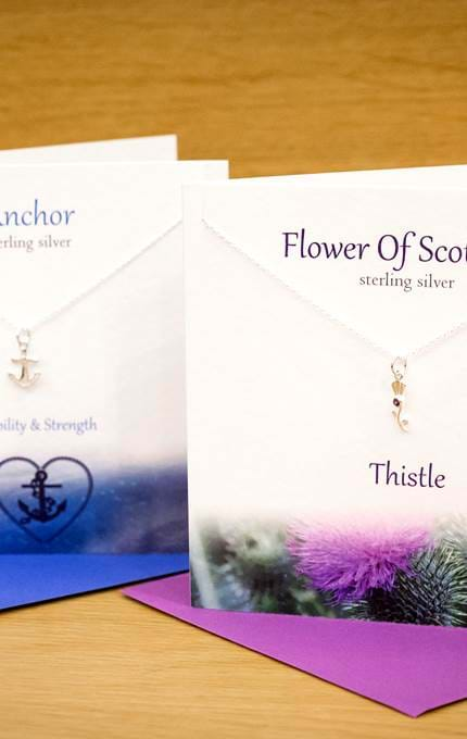 Scottish themed necklace collection.