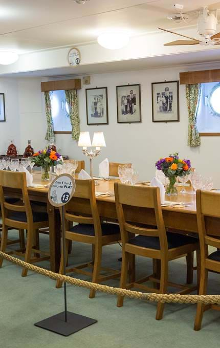 The Officers' Wardroom.