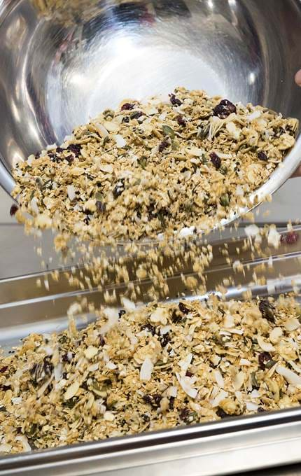 Fingal chef makes fresh granola.