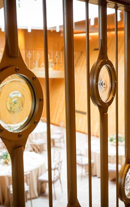 Porthole design in Fingal dining room.