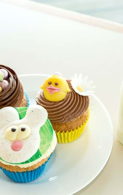 Easter themed cupcakes.