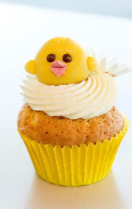 Easter themed chick cupcake.