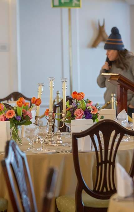 Fresh flowers in The State Dining Room