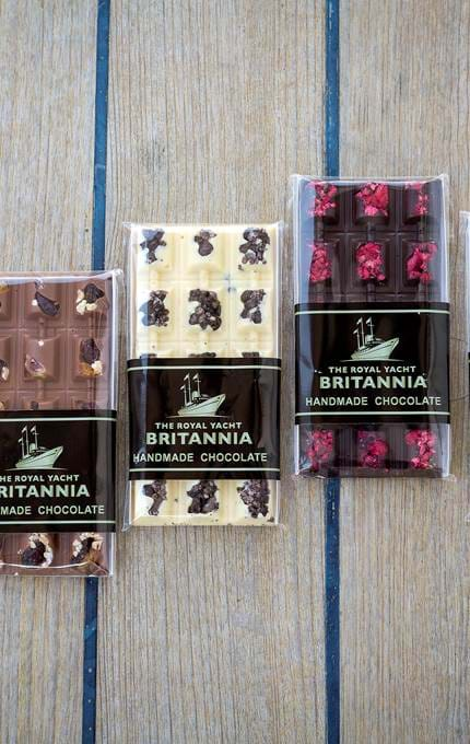 various Britannia chocolate bars