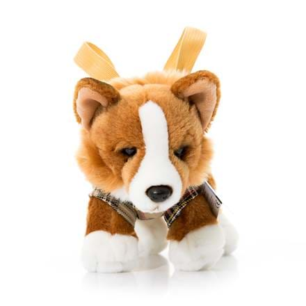 Stuffed corgi toy.